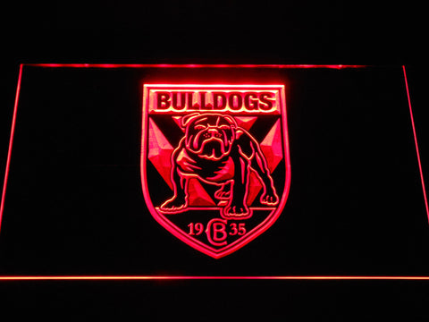 Image of Canterbury-Bankstown Bulldogs LED Neon Sign - Red - SafeSpecial