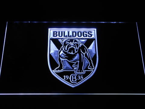 Canterbury-Bankstown Bulldogs LED Neon Sign - White - SafeSpecial