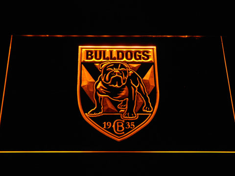 Image of Canterbury-Bankstown Bulldogs LED Neon Sign - Yellow - SafeSpecial