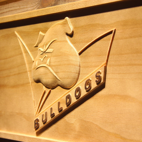 Image of Canterbury-Bankstown Bulldogs Wooden Sign - - SafeSpecial