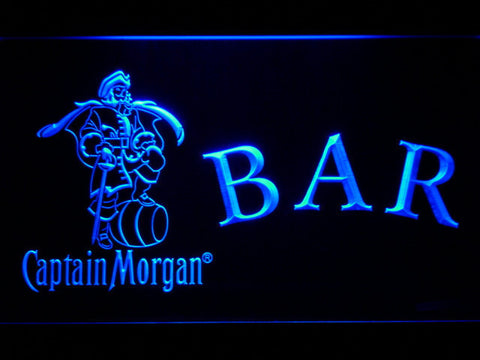 Captain Morgan Bar LED Neon Sign - Blue - SafeSpecial