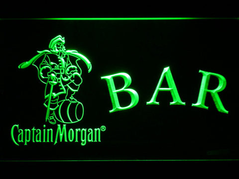 Captain Morgan Bar LED Neon Sign - Green - SafeSpecial