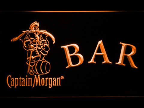 Captain Morgan Bar LED Neon Sign - Orange - SafeSpecial