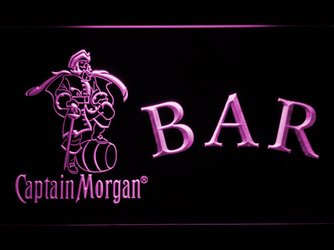 Captain Morgan Bar LED Neon Sign - Purple - SafeSpecial