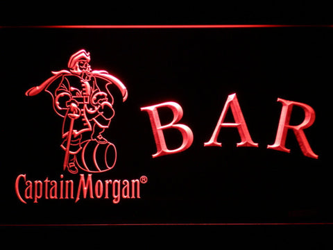 Captain Morgan Bar LED Neon Sign - Red - SafeSpecial