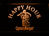 Captain Morgan Happy Hour LED Neon Sign - Orange - SafeSpecial