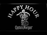 Captain Morgan Happy Hour LED Neon Sign - White - SafeSpecial