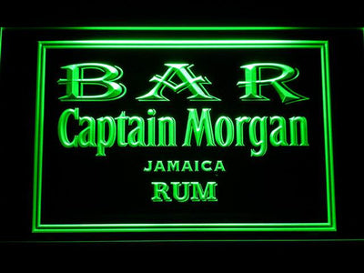 Captain Morgan Jamaica Rum Bar LED Neon Sign - Green - SafeSpecial