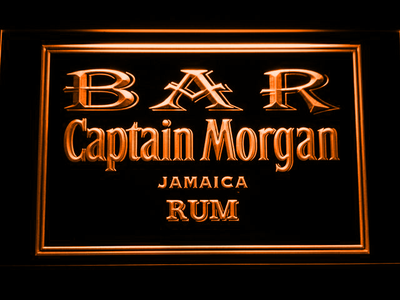 Captain Morgan Jamaica Rum Bar LED Neon Sign - Orange - SafeSpecial