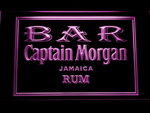 Image of Captain Morgan Jamaica Rum Bar LED Neon Sign - Purple - SafeSpecial