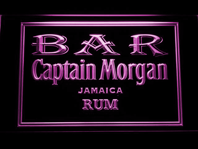 Captain Morgan Jamaica Rum Bar LED Neon Sign - Purple - SafeSpecial