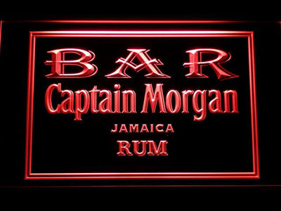 Captain Morgan Jamaica Rum Bar LED Neon Sign - Red - SafeSpecial