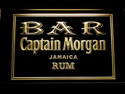 Image of Captain Morgan Jamaica Rum Bar LED Neon Sign - Yellow - SafeSpecial