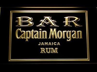 Captain Morgan Jamaica Rum Bar LED Neon Sign - Yellow - SafeSpecial