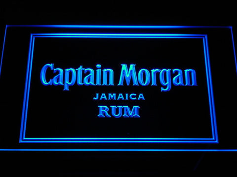 Captain Morgan Jamaica Rum LED Neon Sign - Blue - SafeSpecial