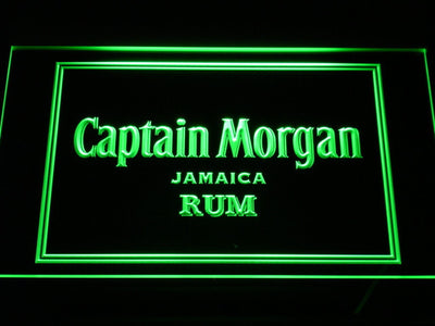 Captain Morgan Jamaica Rum LED Neon Sign - Green - SafeSpecial