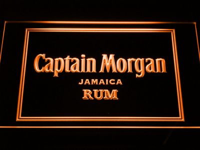 Captain Morgan Jamaica Rum LED Neon Sign - Orange - SafeSpecial