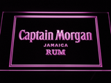 Captain Morgan Jamaica Rum LED Neon Sign - Purple - SafeSpecial