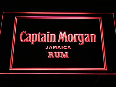 Captain Morgan Jamaica Rum LED Neon Sign - Red - SafeSpecial