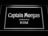 Captain Morgan Jamaica Rum LED Neon Sign - White - SafeSpecial