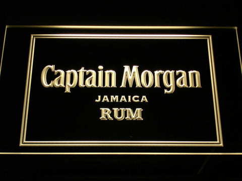Captain Morgan Jamaica Rum LED Neon Sign - Yellow - SafeSpecial