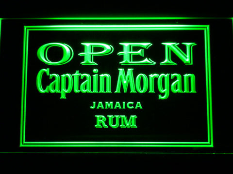 Captain Morgan Jamaica Rum Open LED Neon Sign - Green - SafeSpecial