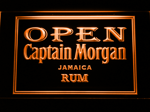 Captain Morgan Jamaica Rum Open LED Neon Sign - Orange - SafeSpecial