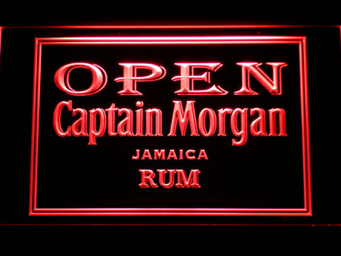 Captain Morgan Jamaica Rum Open LED Neon Sign - Red - SafeSpecial