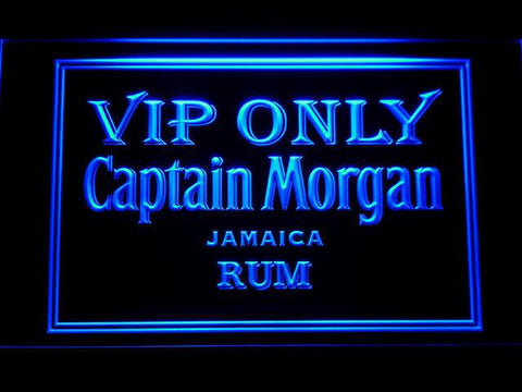 Captain Morgan Jamaica Rum VIP Only LED Neon Sign - Blue - SafeSpecial