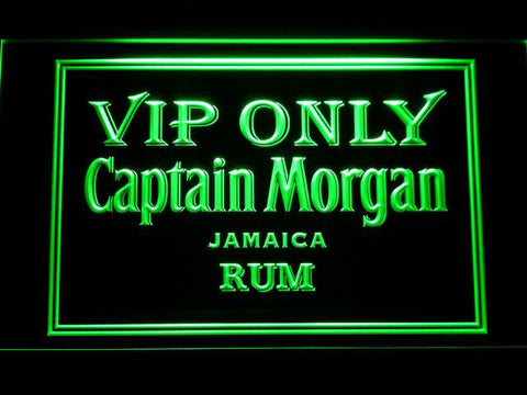 Captain Morgan Jamaica Rum VIP Only LED Neon Sign - Green - SafeSpecial