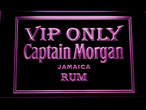 Captain Morgan Jamaica Rum VIP Only LED Neon Sign - Purple - SafeSpecial