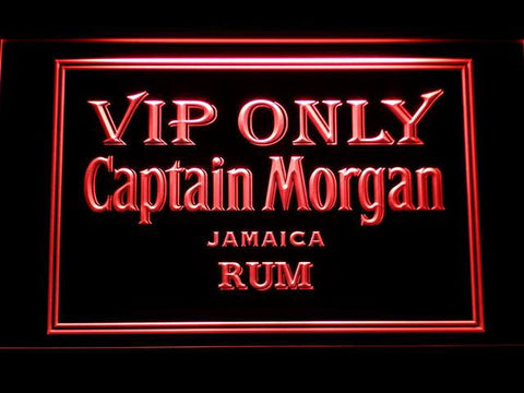 Captain Morgan Jamaica Rum VIP Only LED Neon Sign - Red - SafeSpecial