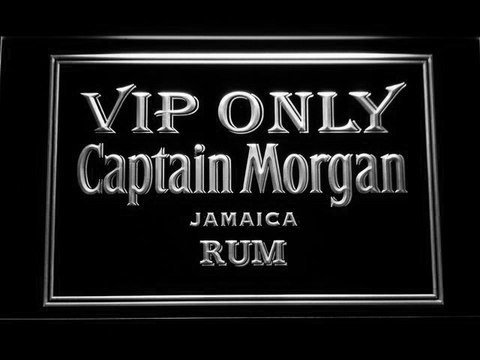 Captain Morgan Jamaica Rum VIP Only LED Neon Sign - White - SafeSpecial