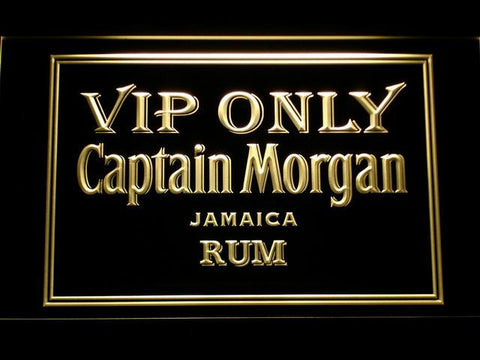 Captain Morgan Jamaica Rum VIP Only LED Neon Sign - Yellow - SafeSpecial