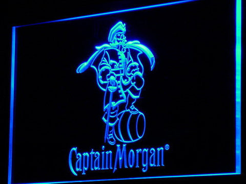 Image of Captain Morgan LED Neon Sign - Blue - SafeSpecial