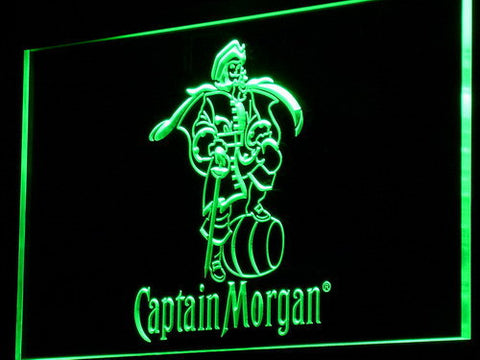 Image of Captain Morgan LED Neon Sign - Green - SafeSpecial