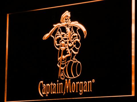 Image of Captain Morgan LED Neon Sign - Orange - SafeSpecial
