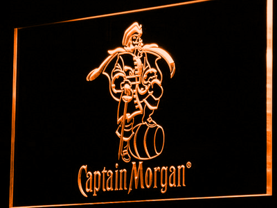 Captain Morgan LED Neon Sign - Orange - SafeSpecial