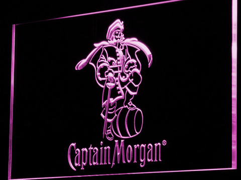 Image of Captain Morgan LED Neon Sign - Purple - SafeSpecial