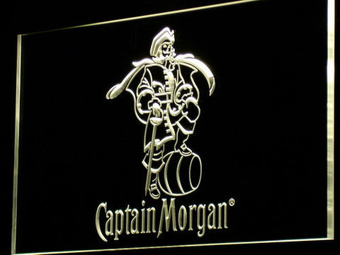 Image of Captain Morgan LED Neon Sign - Yellow - SafeSpecial