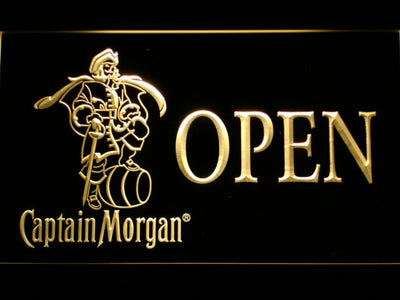 Captain Morgan Open LED Neon Sign - Yellow - SafeSpecial