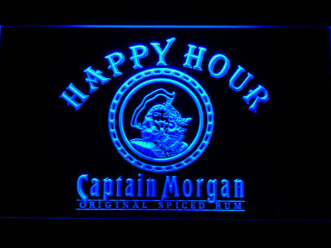 Captain Morgan Original Happy Hour LED Neon Sign - Blue - SafeSpecial