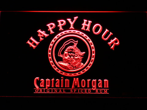 Captain Morgan Original Happy Hour LED Neon Sign - Red - SafeSpecial