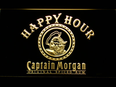 Captain Morgan Original Happy Hour LED Neon Sign - Yellow - SafeSpecial