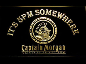 Captain Morgan Original It's 5pm Somewhere LED Neon Sign - Yellow - SafeSpecial