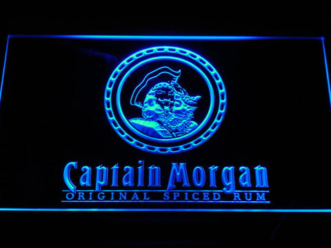 Image of Captain Morgan Original Spiced Rum LED Neon Sign - Blue - SafeSpecial