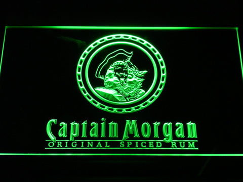 Image of Captain Morgan Original Spiced Rum LED Neon Sign - Green - SafeSpecial