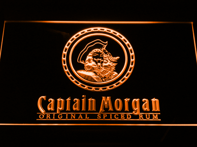 Captain Morgan Original Spiced Rum LED Neon Sign - Orange - SafeSpecial