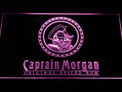 Image of Captain Morgan Original Spiced Rum LED Neon Sign - Purple - SafeSpecial