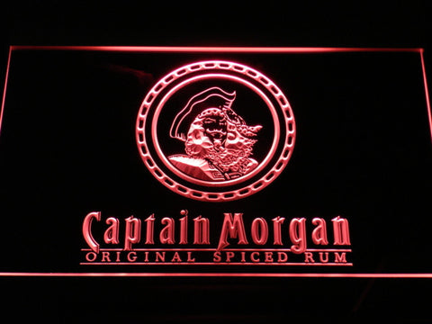 Image of Captain Morgan Original Spiced Rum LED Neon Sign - Red - SafeSpecial